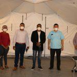 Director SRS Cibao Occidental supervisa hospital móvil municipio de Esperanza