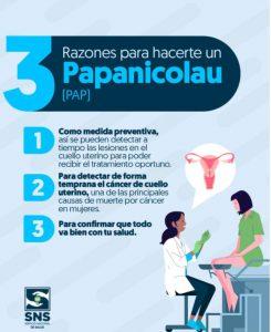 ➡️La prueba de Papanicolau (PAP) o citología cervical al menos una vez cada 3 años es de suma importancia si ya eres sexualmente activa o tienes 21 años o más.