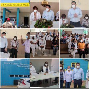 SRSCO,  entrega equipos tecnológicos; juramenta funcionario y realiza recorrido por Unaps de la Provincia Dajabòn.