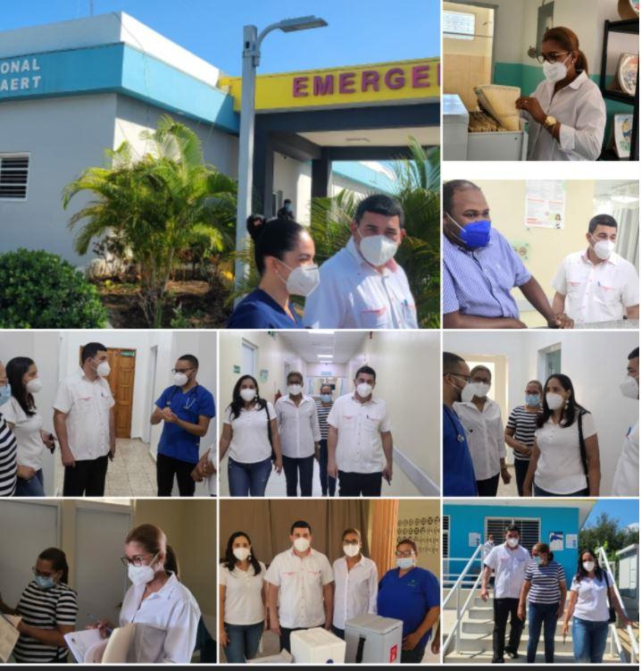 Servicio Regional de Salud Cibao Occidental, efectúa visita de supervisión a hospitales; Unaps y centro de vacunación.