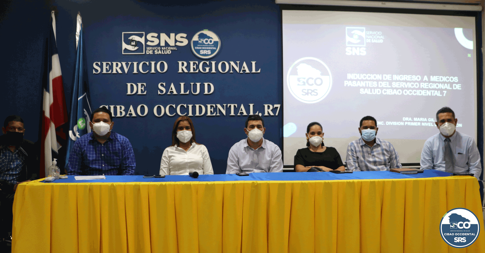 SNS y SRSCO  capacitan médicos pasantes de nuevo ingreso